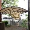 東京都 公共施設の通路テント