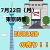 【7/22 東京時間】今週の注意点と、EURUSDのトレード戦略について。