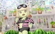 【ドワ子のドレア】ピンク×黒ボーダー水着コーデ