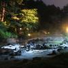 草津の夜!湯畑からすぐ、西の河原公園のライトアップが穴場で素敵