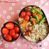 #484 厚揚げと南瓜他野菜の塩麹炒め弁当