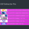 Export your OST files to Apple mail using 'OST Extractor Pro