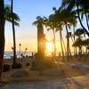 【ハワイ】ワイキキの日の出、日の入り時間の一覧表 &サンライズ、サンセット鑑賞おすすめ場所