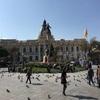 ラ・パスを観光 時計が反対なムリリョ広場と月の谷