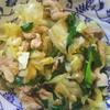 肉と野菜のガーリックソルト炒め