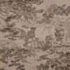 着物生地(217)流水に草花風景・時代人物模様手織り紬