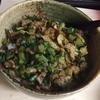 【丼ぶり】大根葉と豚肉、油揚げのカリカリ炒め丼…からのお茶漬けじゃー!