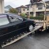 草加市からレッカー車で車検の切れたパンクの故障車を廃車の引き取りしました。