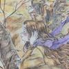 塗り絵『エポルの森の少女』を100均ダイソーの水彩色鉛筆で塗ってみた