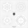 神聖幾何学ガラスコースターのデザイン設計について