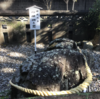 神武天皇が東征前に座ったという石がある立磐神社