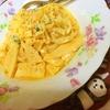 稲庭うどんで筍たっぷりの豆乳カルボナーラ