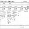 今週(9/28〜10/4)練習計画