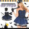 ハロウィンパーティー レディースポリス風ワンピース ハロウィン コスプレ 衣装