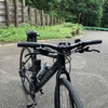 クロスバイクにカーボンハンドルとシートポスト