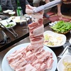 【済州島/中文】連なる骨付き豚カルビの人気店@해심가든/ヘシムガドゥン