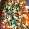 チキンと二色ゴーヤの夏トマト煮