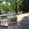 代々木公園でビール