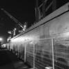 工場の岸壁で 夜勤中