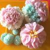 お花のカップケーキキャンドル