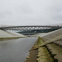 中橋、アプローチ工事中