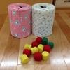 手作り玩具・ミルク缶とペットボトルの蓋で作るポットン落とし