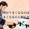 料理がうまくなるのは、字がうまくなるのと似てますね。