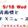 【2019.9.18(水)】今日のFXニュース~経済指標や値動きなど~【FX初心者さん向けに解説】