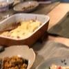 カレードリア、ブロッコリートマトと茹で卵のサラダ