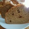 全粒粉100%パン ホームベーカリーで簡単に焼けるようになりました。今回はレーズン入り。