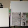 油彩筆とキャンバスと油彩絵の具(画材道具紹介2)