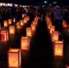 灯籠の灯りと夜景が美しい【宝山寺 生駒聖天お彼岸万燈会】(生駒市)