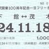 真岡鉄道  「真岡駅開業100周年記念一日フリーきっぷ」