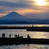 夕焼け空の撮影を期待して江ノ島へ行ってみました #EOSM6 #THETA360