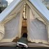 子連れ日本橋  テントでカフェ