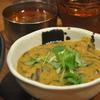 大久保の「魯珈」でひじきと豆のお雑煮カレー、ラムビンダルー、魯肉。