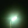 月夜、電線の上から岡本太郎の顔、やつらの家と電線