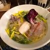 534. 冷やし金目鯛ラーメン@海老丸(神保町):良く冷えた淡麗スープの清涼感に絶品昆布締め金目鯛!さらには2段階のリゾットで最高の締め!