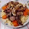 馬肉の味が病みつきになるカザフ料理の代表的な麺料理・ベシュパルマック