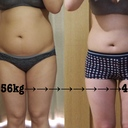 3ヶ月で-10kg痩せました。