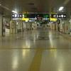 誰もいない札幌駅。