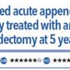 ACPJC:治療 非複雑性急性虫垂炎(UAA)では、虫垂切除術と比べ抗生剤は長期的に見て有効か