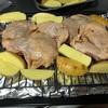 ヘルシオオーブンで鶏の照り焼き 2段調理してみました