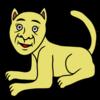 かわいいスフィンクスのようなネコ のイラスト