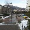 雪の「アクアパーク東山」と京阪京津線廃止区間ぶらり歩き