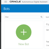 Oracle Digital Assistant でチャットボットを作ってみた