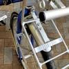 キャリパーブレーキの自転車にVブレーキ用のフロントキャリアを取り付ける