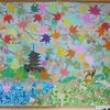 11月の壁面飾りは、秋の装い♫