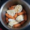 ホットクックでポトフのレシピに挑戦。キャベツを200g消費できました。