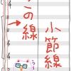 楽譜を書くときに使われる線の種類。